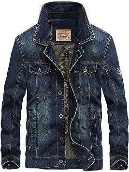 デニムジャケット メンズ裏地付き レトロスリムフィットトラッカーワークコート ユーズド刺繡デコレーションデニムジャケット
