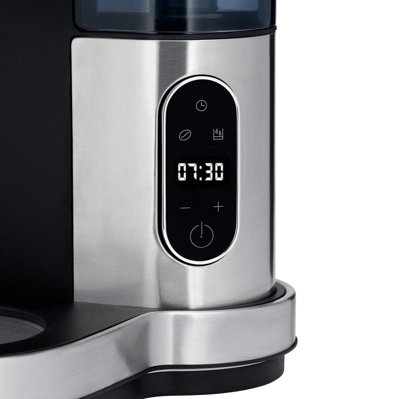 Touch-Display Tropfstopp Timerfunktion Warmhalteplatte abnehmbarer Wassertank 10 Tassen Schwenkfilter Filterkaffee 1000 W WMF Lumero Kaffeemaschine mit Glaskanne Abschaltautomatik