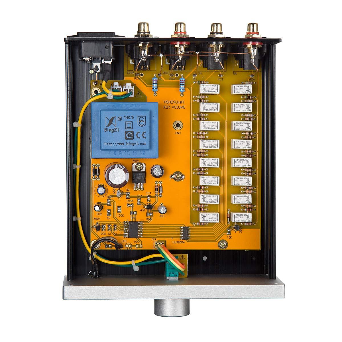 nobsound Balanced Potenci/ómetro Passive Preamp Preamplifier 256/stepped attenuator XLR alta precisi/ón Relay Volume Control 0.1/% for Various amplifiers preamplifiers preamplificador
