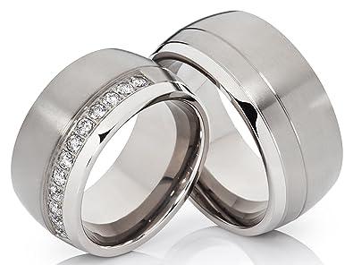 Partnerringe titan breit  2 Ringe Trauringe Eheringe Hochzeitsringe Verlobungsringe aus ...
