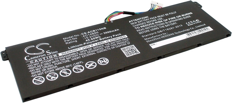 GAXI Battery for Acer Aspire E3-111, Aspire E3-112, Aspire E3-112M Replacement for P/N AC011353, AC14B18K, AC14B18K(4ICP5/57/80)