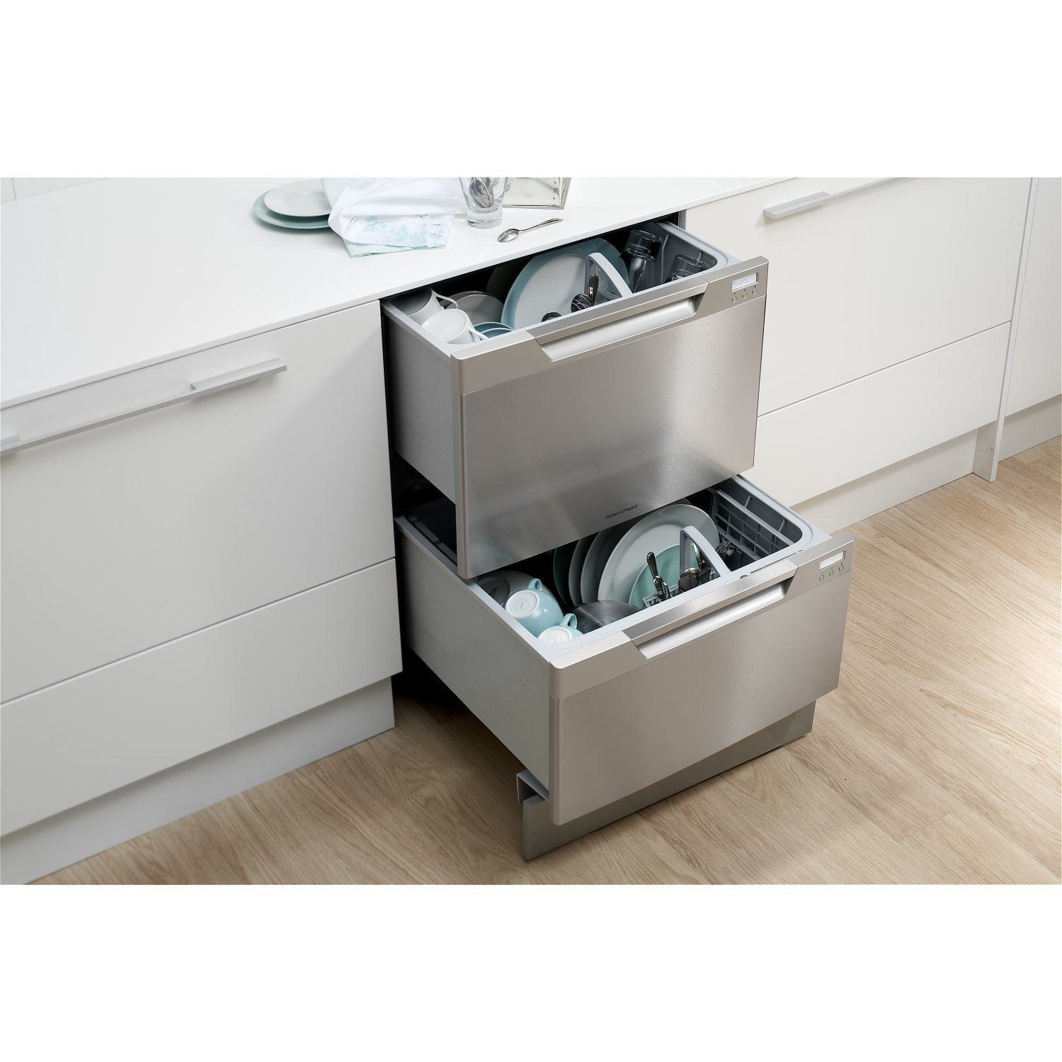 fisher paykel dd60dchx7 double dishdrawer with fixed
