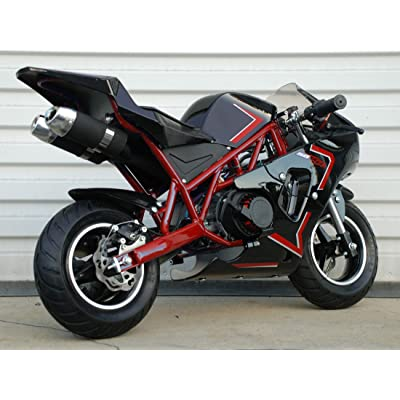 50rr 2-Stroke Gas Pocket Bike Mini Bike : Sports & Outdoors
