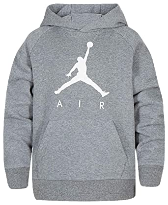5800f5686fb Jordan Boys Youth Jumpman Fleece Sweatshirt Hoodie Size M, L, XL (Carbon  Heather