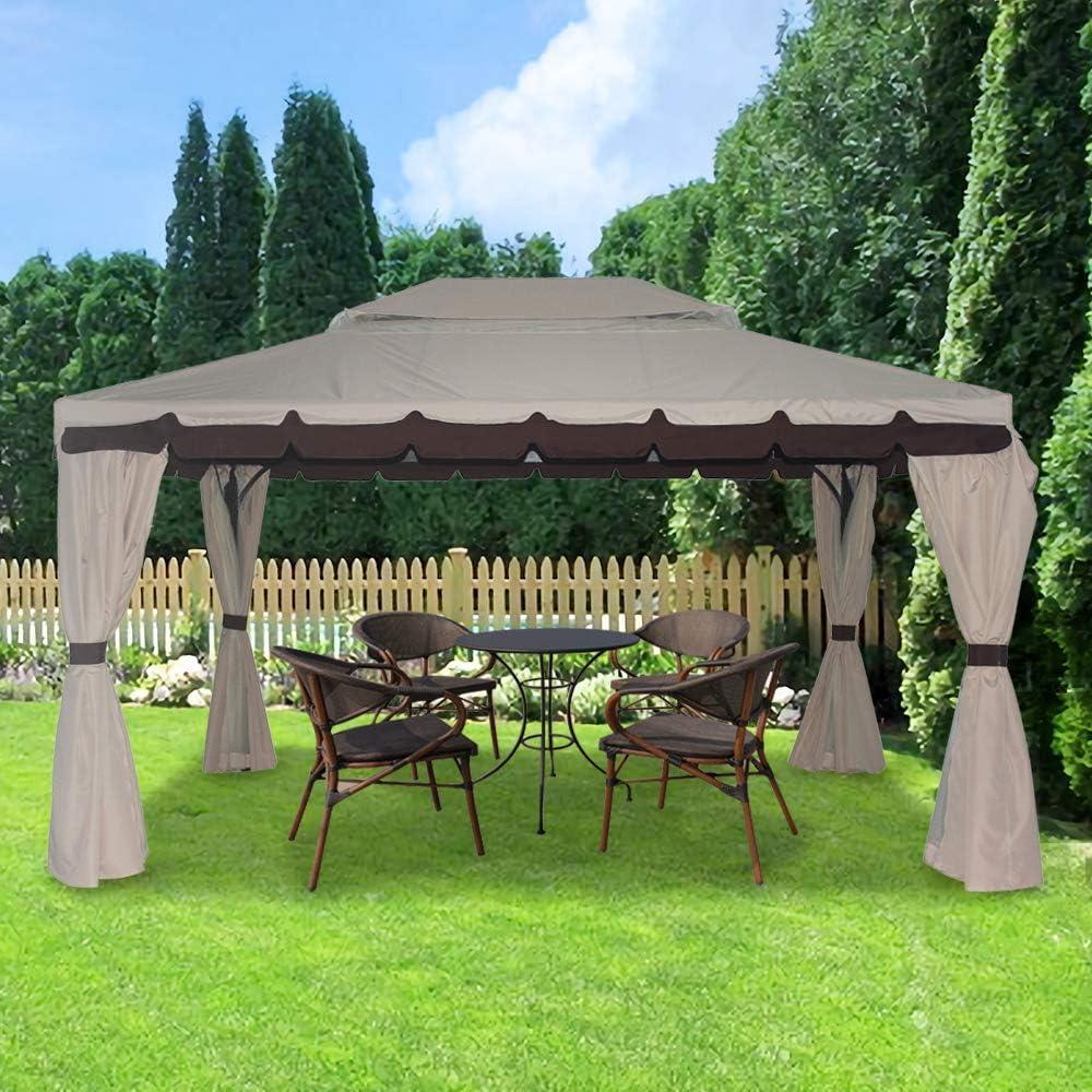 Greenbay aluminio Deluxe lujo Pavilion 3 x 4 m Gazebo toldo refugio jardín cenador: Amazon.es: Jardín