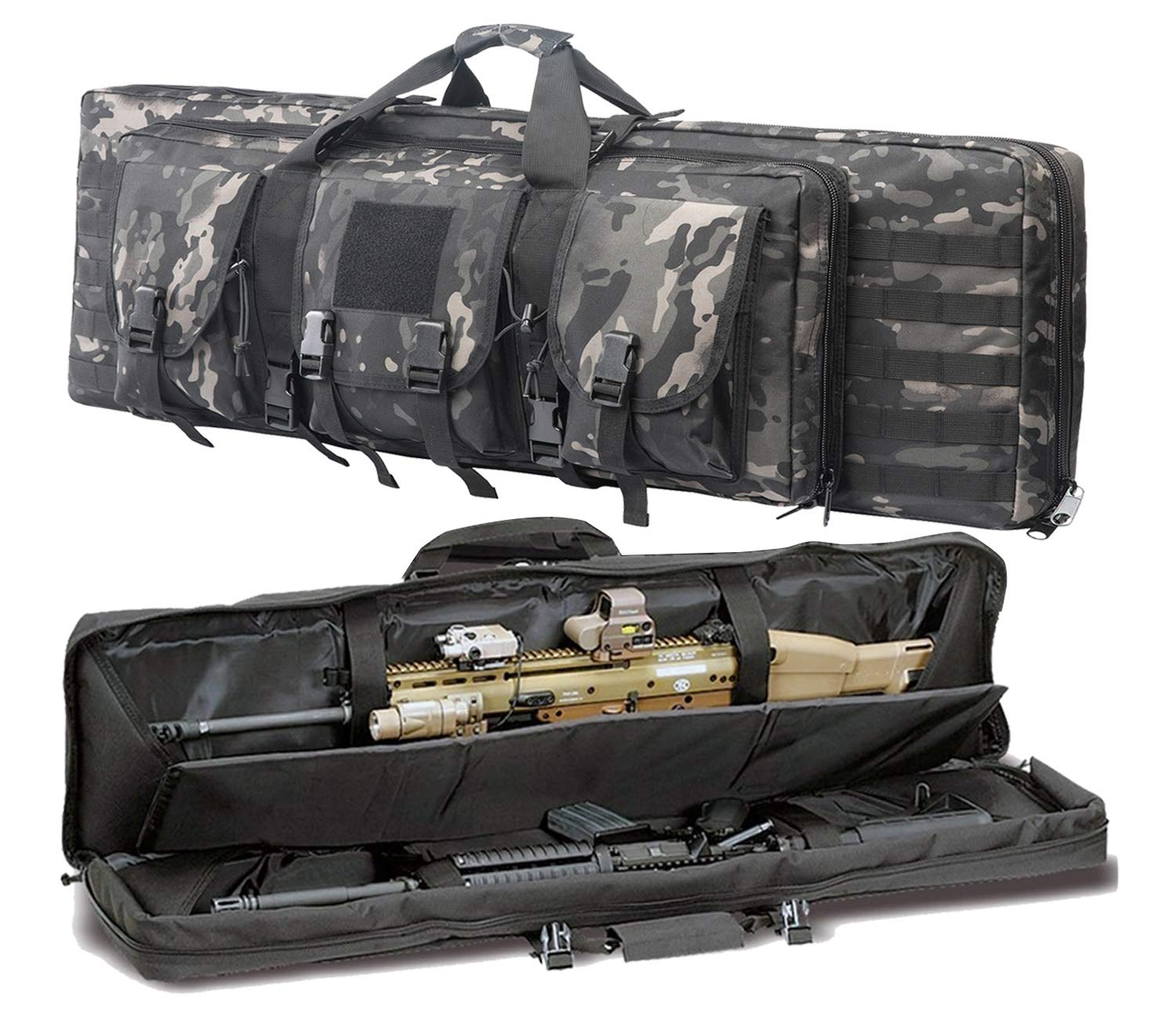 Double Strap 36//42 Inches Rifle Bag Fishing Hunting Tactical Soft Gun Case Long