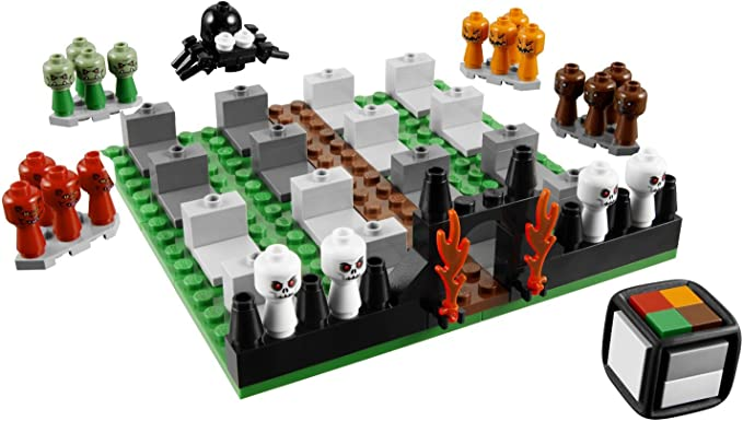 LEGO 3837 pale per minifig ALT Grigio Scuro//Nero 2 pezzi 14