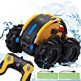Apsung Remote Control Car, 1/24 Scale Amphibious Vehicle for Kids 2.4GHz Off Road RC Truck with 4WD Electric Toy Car, 360° Spins & Flips High Speed RC Stunt Car Great Kids