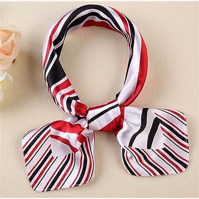 FLYRCX Mode de dames imprimer imitation soie Foulard en Soie satin doux  Cheveux décoration 60cmx60cm 6913af42626