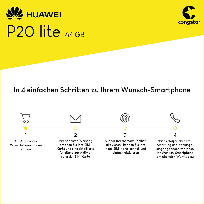 Congstar Sim Karte Aktivieren.Congstar Huawei P20 Lite 64gb Speicher Handy Mit Amazon De Elektronik