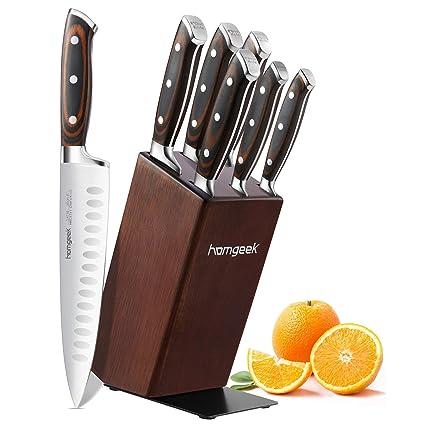 Compra homgeek Juego de cuchillos, 7 piezas cuchillos de ...