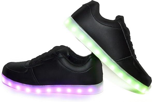 Envio 24 Horas Usay like Zapatillas LED con 7 Colores Luces Carga USB Negro Hombre Mujer Unisex Talla 35 hasta 46 Envio Desde España (EU37): Amazon.es: Zapatos y complementos