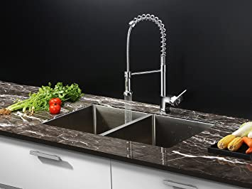 Ruvati Rvc1311 Stainless Steel Kitchen Sink And Chrome Faucet Set