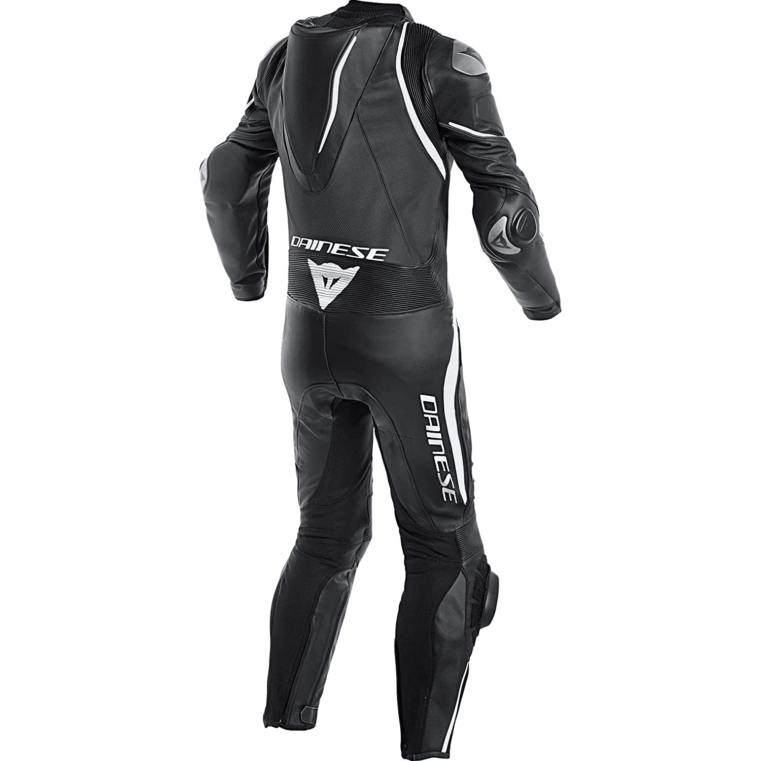 Dainese Laguna Seca 4 Perforated Leather One-Piece Suit (52) (Black/Black/Fluorescent Red)