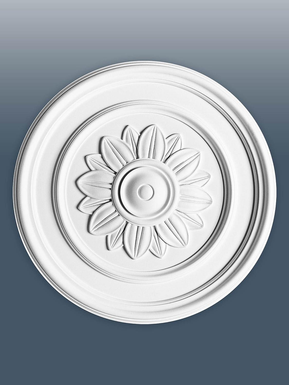ORAC R46 Ceiling Rose Rosette Medallion Centre wall decor polyurethane rings floral white | 53, 5 cm = 20.8 inch diameter Orac Decor