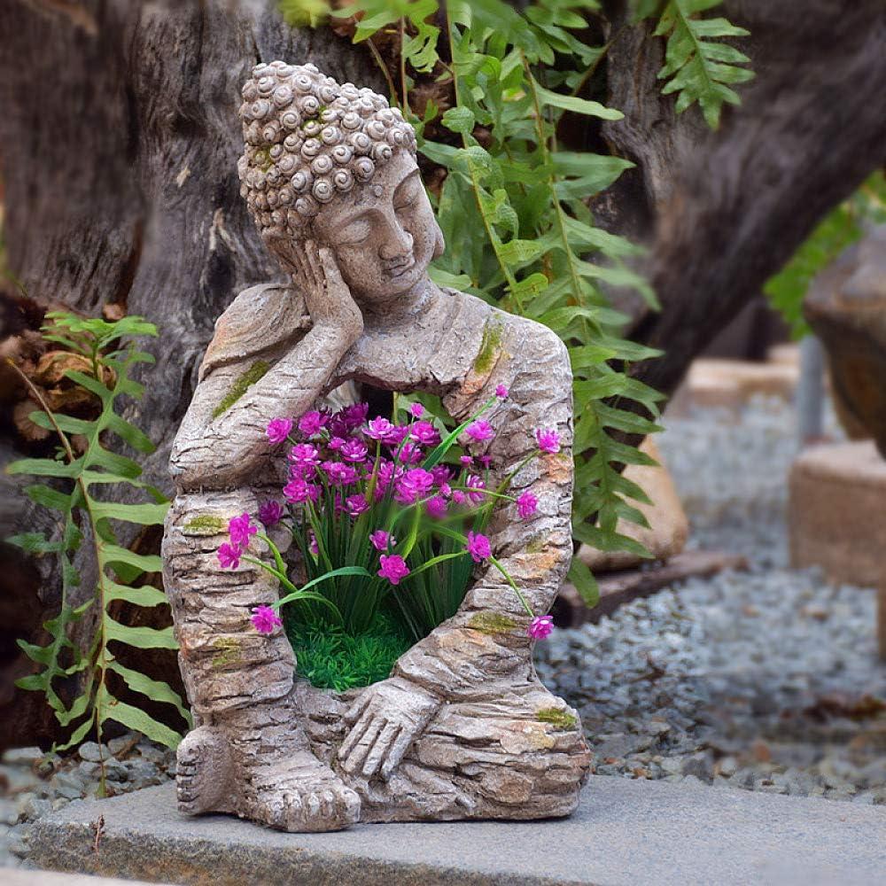 zenggp Large Buddha Zen Pot Planter Flower Special Campaign Resin Effec Stone mart