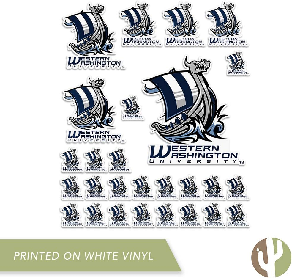 Sheet Type 3-1 Western Washington University WWU Vikings NCAA Sticker Vinyl Decal Laptop Water Bottle Car Scrapbook