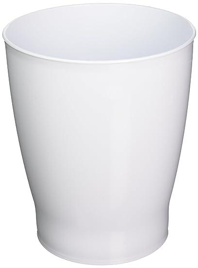 Amazoncom MDesign Wastebasket Trash Can For Bathroom Wastebasket - White bathroom trash can
