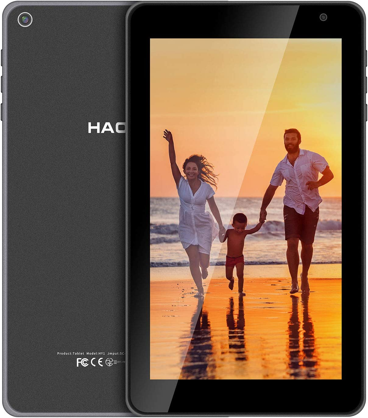 HAOVM 7inch Android Tablet, Android 10.0 Android Q Mediapad P7, Quad-Core 1.4GHz Processor, 32GB Storage, Dual Camera, 1024x 600 IPS HD Display, GPS, FM, BT4.2, 5.0 WiFi Tablet Non-Scratch Glass Back