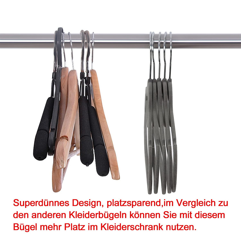 SONGMICS Kleiderbügel, Samt, 20 Stück, 0,6 cm dick, Anzugbügel ...
