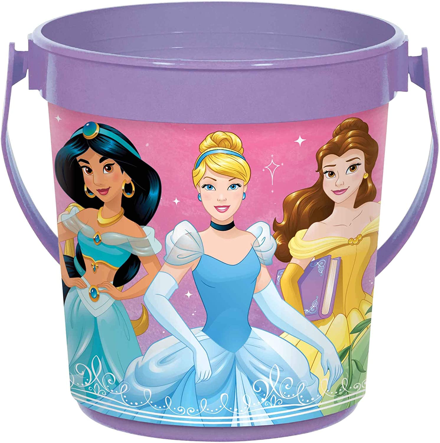 Disney Princess Blue and Pink Party Favor Container 4 7//8 H x 4 3//8 D