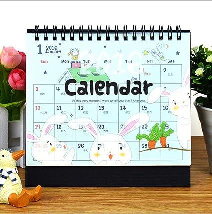 Cute Desk Calendar Simple Stand Up Desk