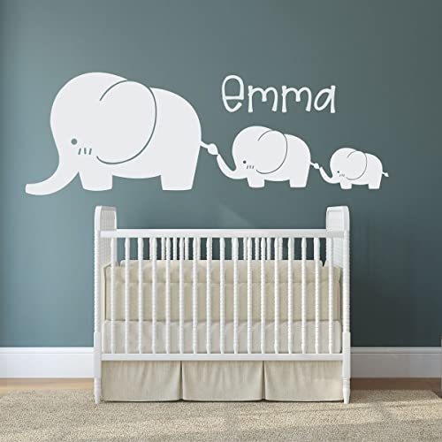 Elephant Wall Decals - Twin Baby Nursery Decor Sticker, Decoration for Kids  Room, Playroom, Jungle Theme Bedroom