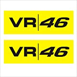 ISEE 360 VR 46 Sport Specialized Decal for Bike Chaise Stem Visor Sides Helmet Car Windows Rear, Hood, Bumper Sportive Sticker in Standard Size, Pack of 2