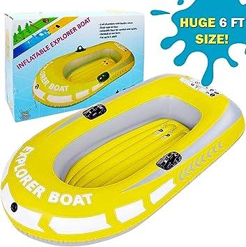 Barca Hinchable, Lancha Bote Inflable para Niños, Grande 188x114cm ...