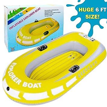 Barca Hinchable, Lancha Bote Inflable para Niños, Grande ...