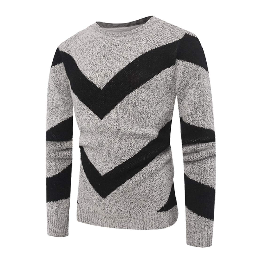 BAYYMen Classic Hit Color Knitted Chic Soft Long-Sleeve Pullover Sweater