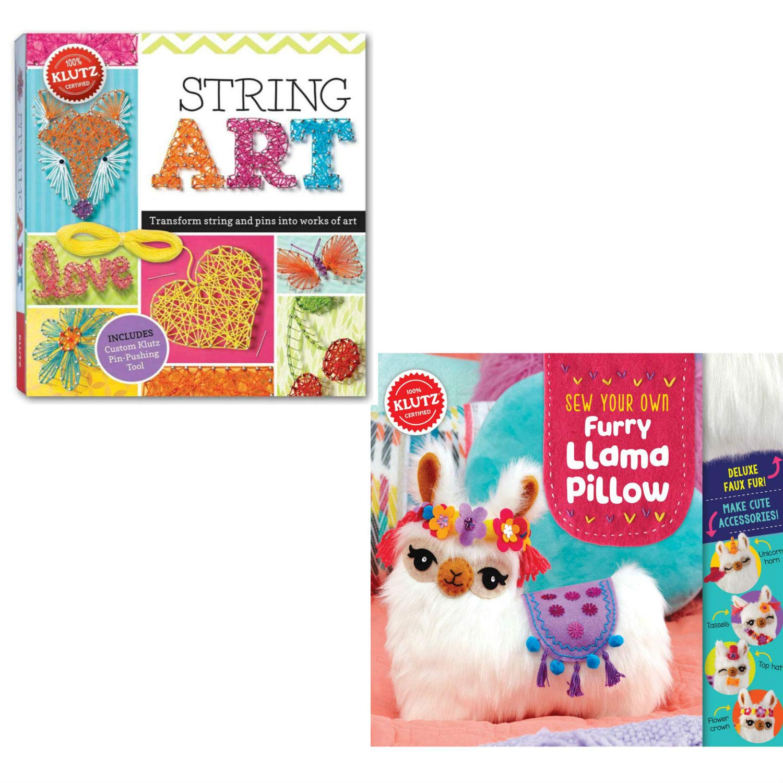Klutz Craft Kits ストリングアート 縫い付け用 Llama 枕 女の子用 クラフトキット 2個セット   B07KDKZLDN