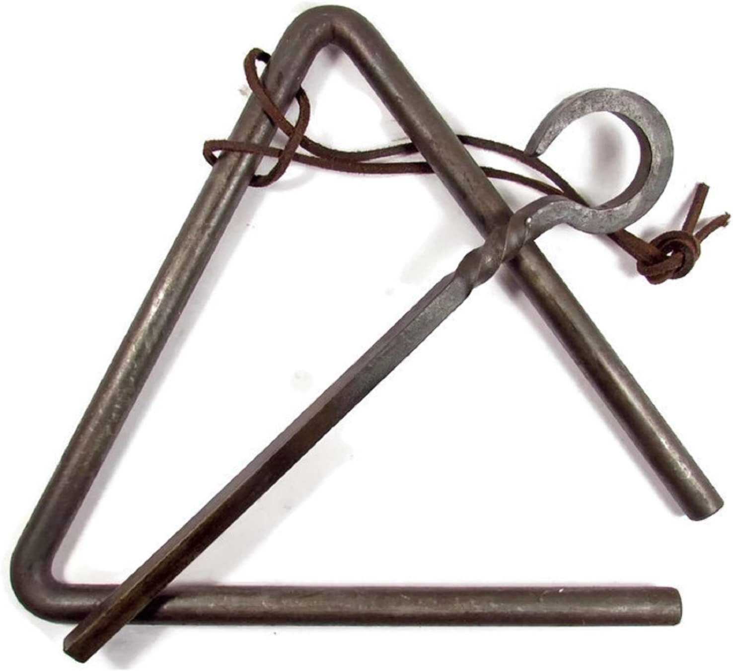 Triangle Dinner Bell made of Chuckwagon Cast Iron Includes Medal Hanger and Call Striker