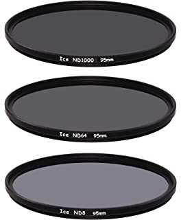 XIAOMIN 95mm ND Fader Neutral Density Adjustable Variable Filter ND2 to ND400 Filter Premium Material