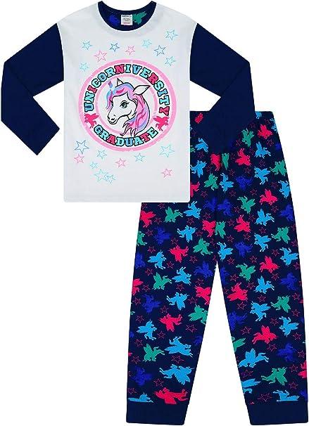 Pijama Largo de algodón con diseño de Unicornio para niñas Blanco ...