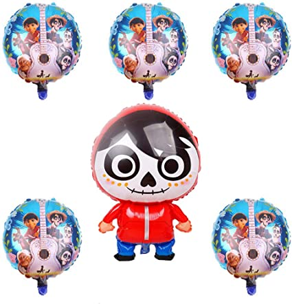 Amazon.com: 6 globos grandes de Coco Movie Miguel para ...