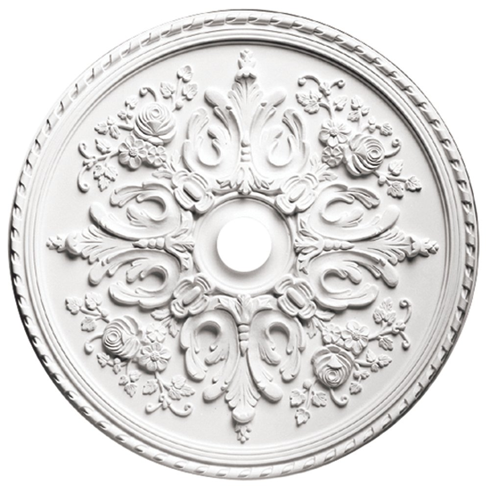 Focal Point 81033 33-Inch Versailles Medallion 32 1/2-Inch by 32 1/2-Inch by 2 1/2-Inch, Primed White by Focal Point