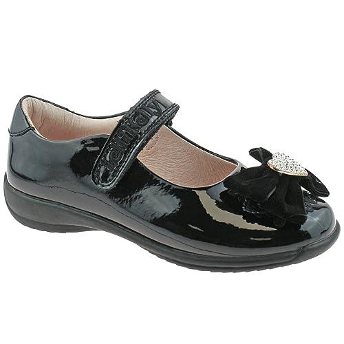 Lelli Kelly LK8313 (DB01) Begonia Black Patent School Shoes F Width -34 (UK 2) CETTNP0Gf