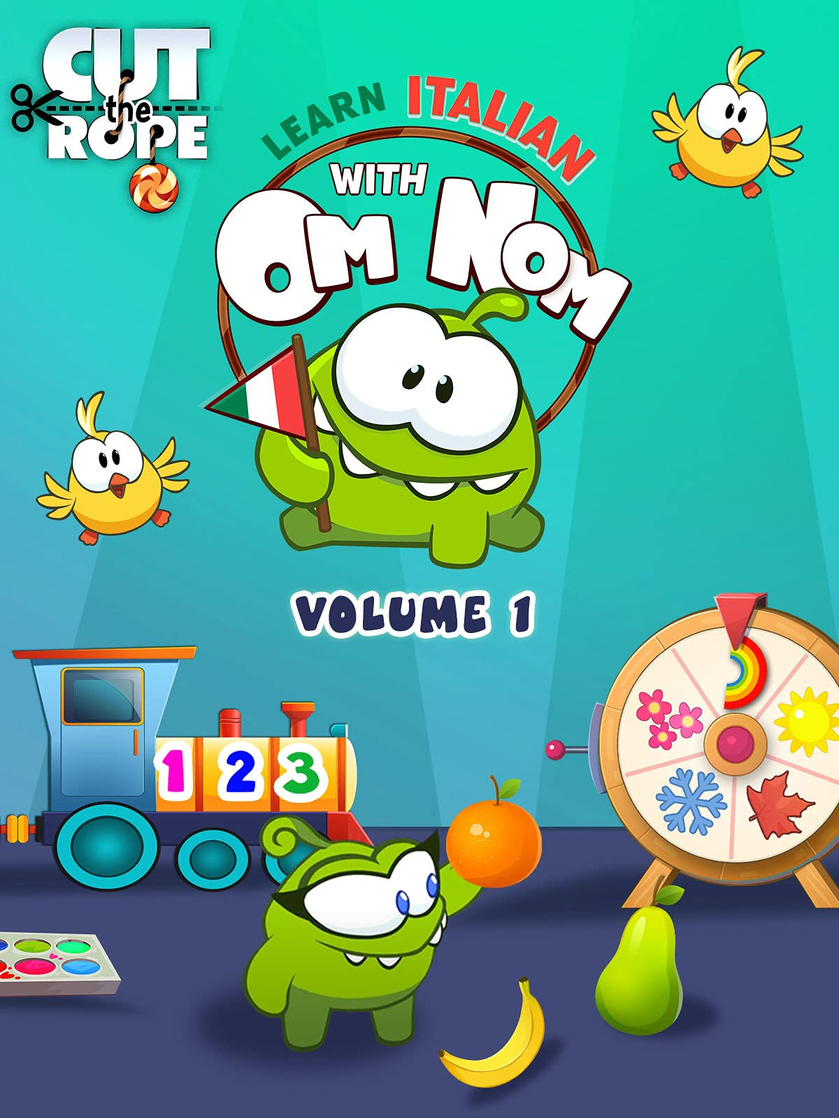 Cut the Rope: Learn Italian with Om Nom (Volume 1)
