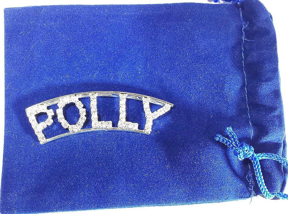 Detti Originals Personalized Rhinestone Polly Name pin