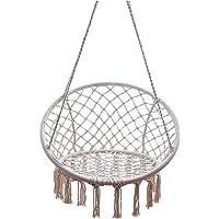 Outdoor Indoor Deluxe Hammock Swing Chair Macrame Cotton Hanging Bed Relax Safe