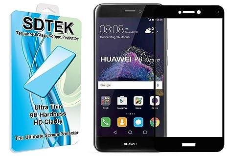 Huawei P8 Lite (2017) (Black) Piena Copertura Vetro Temperato ...