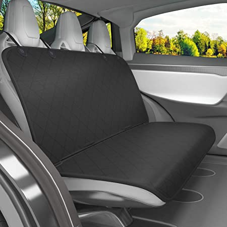 Amazon Com Vivaglory Dog Seat Covers For Back Seats No Skirt Design Quilted Durable 600 Denier Oxford 4 Layers Pet Bench Protectors With Anti Slip Backing For Most Cars Suvs Mpvs Black