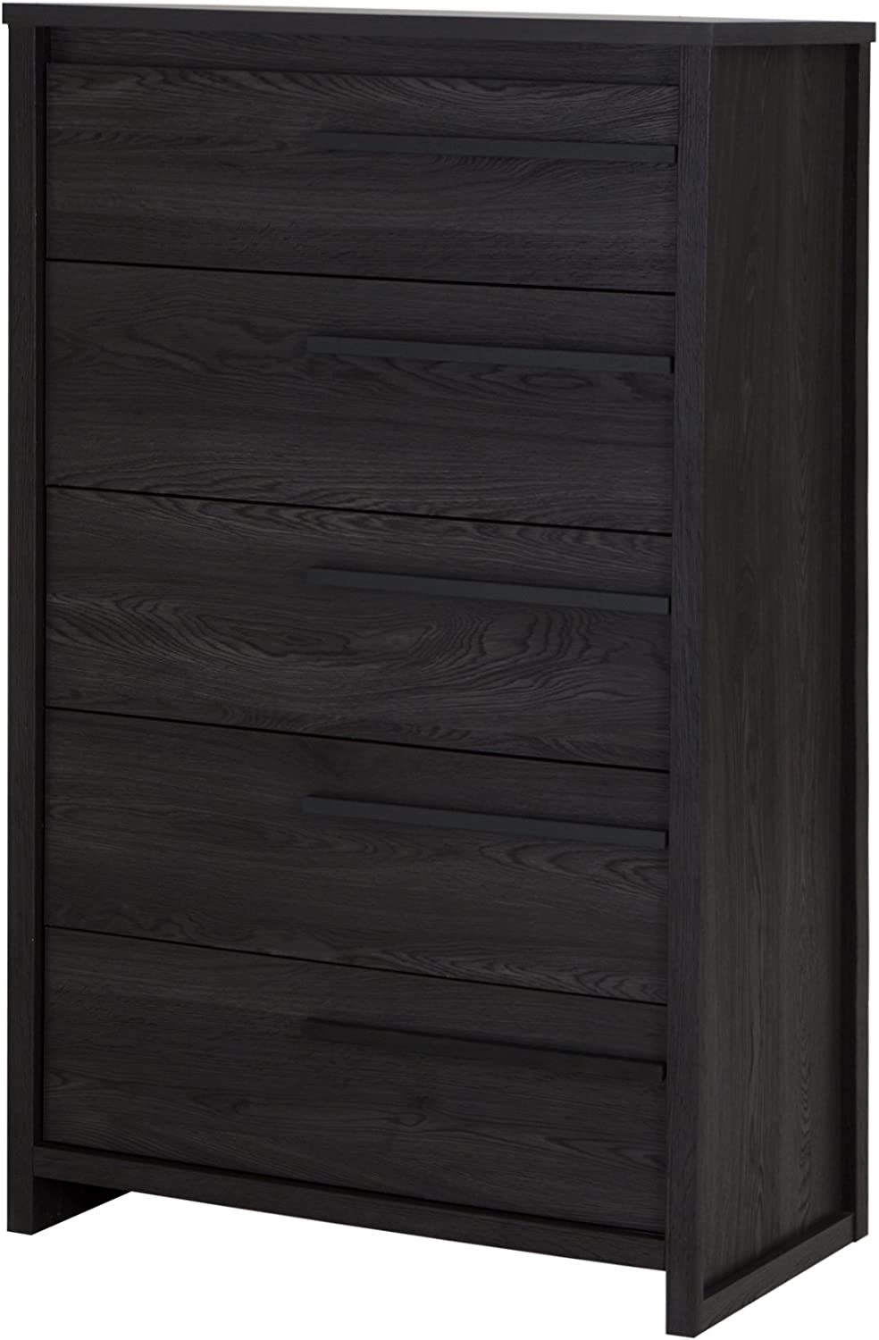 South Shore Tao 5-Drawer Dresser, Grey Oak with Wooden Handles