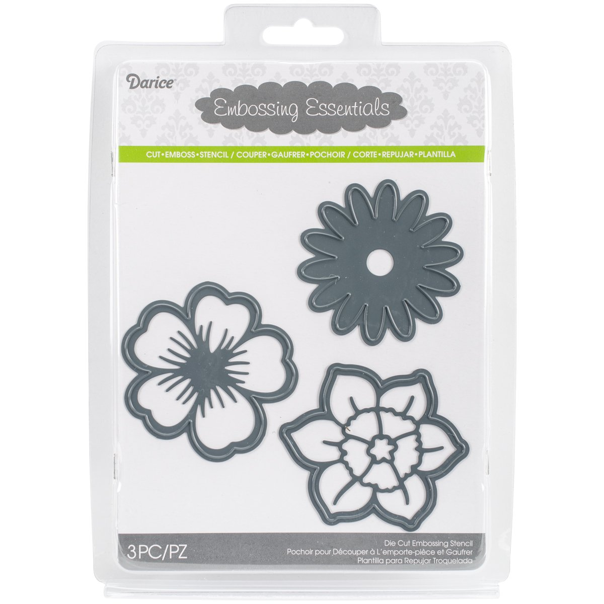 Darice 2014-102 Embossing Essentials Dies-Flowers