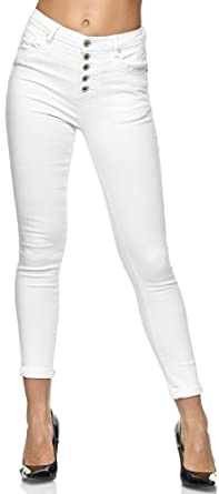 Elara Jeans de Hombre Slim Fit Pantalones Estilo Biker Chunkyrayan