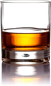 Classic Stylish 10 oz Durable Whiskey Glasses, Bubble Tumbler Cups, Set Of 4 Drinking Glasses - Premium Quality - Perfect For Water, Scotch, Bourbon, Cognac, Cocktails, etc.