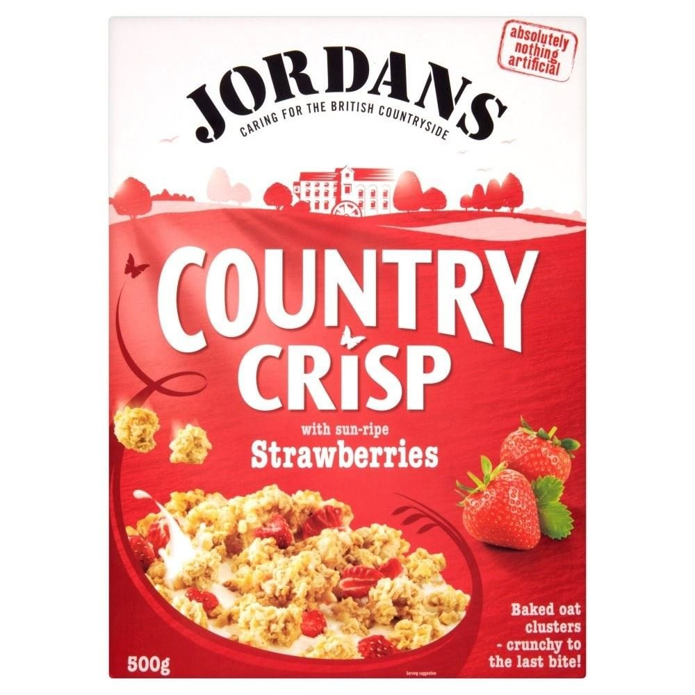 Jordans Country Crisp Strawberry Crunchy Clusters (500g) - Pack of 2