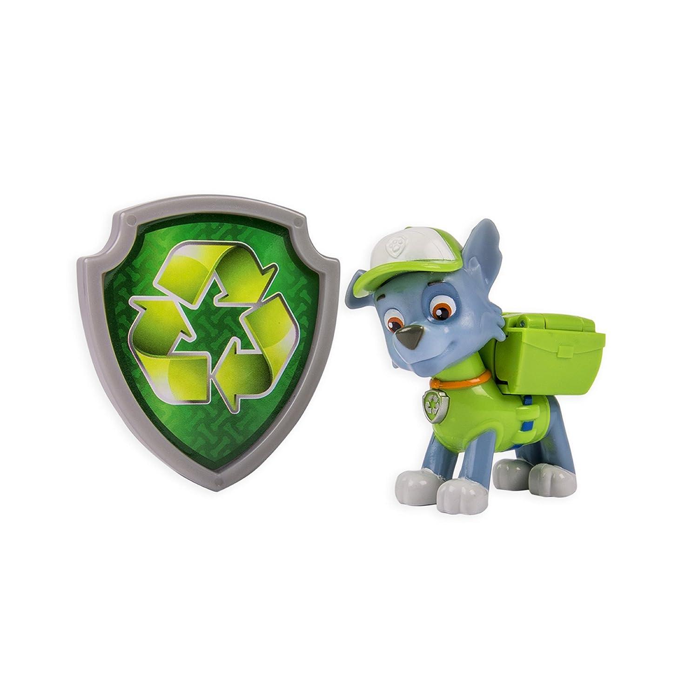 Amazon.com: Nickelodeon, Paw Patrol   Action Pack Pup U0026 Badge   Rocky: Toys  U0026 Games