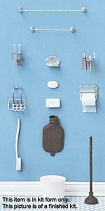 dollhouse miniature chrysnbon bathroom accessories kit